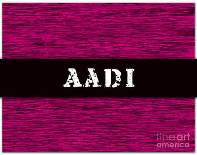 Mixed Media - Childs Name Aadi by Marvin Blaine