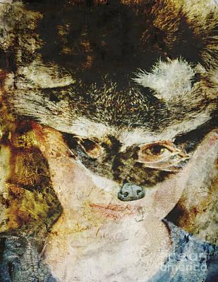Raccoon Digital Art - Childs Play by Nancy TeWinkel Lauren