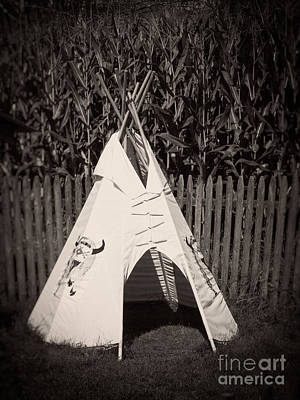 Playground Photograph - Childs Vintage Play Tipi by Edward Fielding