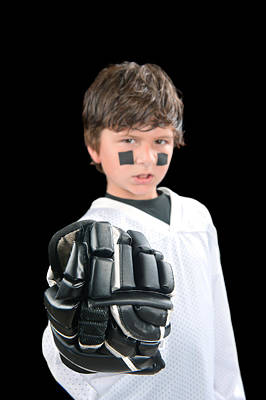Youth Hockey Photograph - Chile Hockey Player With Glove by Joe Belanger