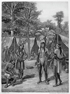 Loincloth Painting - Chile Mapuche Village by Granger