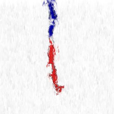 Chile Painted Flag Map Art Print by Antony McAulay