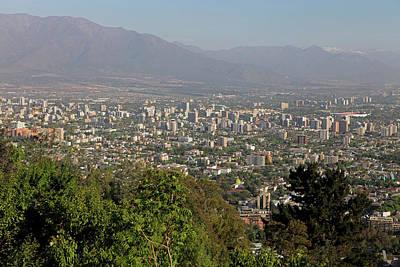 Chile, Santiago Santiago From San Art Print