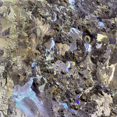 Photograph - Chilean Volcanoes by USGS Landsat