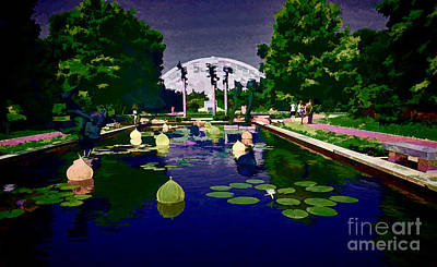 Geodesic Dome Digital Art - Chilhuly Twilight At Missouri Botanical Gardens by Luther Fine Art