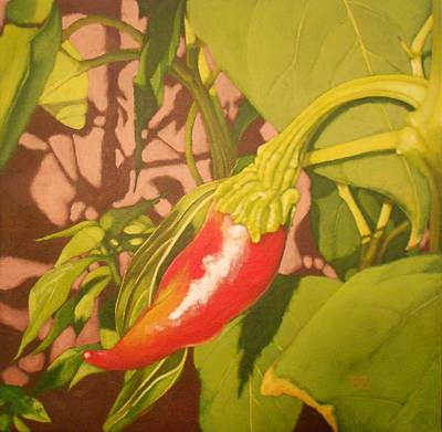 Pepper Painting - Chili Garden by Bonnie Behan