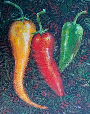 Painting - Chili Pepper Madness by Susan DeLain