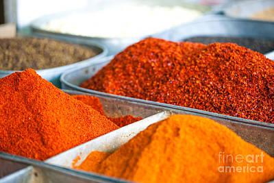 Chili Pepper Powder Art Print