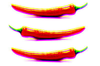 Photograph - Chili Peppers Pop Art by Selke Boris
