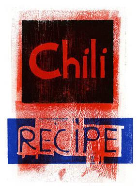 Cookbook Digital Art - Chili Title by David Esslemont