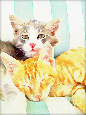 Chill Out Cats Art Print