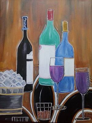 Cork Screw Painting - Chill Time by Damon Milton