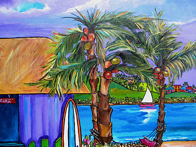 Caribbean House Painting - Chillaxing by Patti Schermerhorn