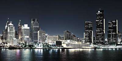 Chilled Detroit Skyline  Art Print