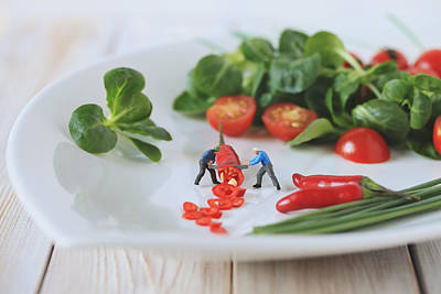 Lettuce Photograph - Chilli Salad For Tonight's Dinner by Gediminas Karbauskis