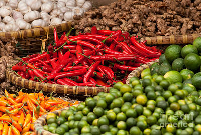 Chillies 01 Art Print by Rick Piper Photography