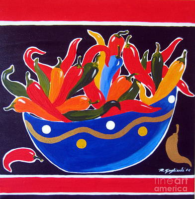 Paprika Painting - Chillies Chillies by Roberto Gagliardi