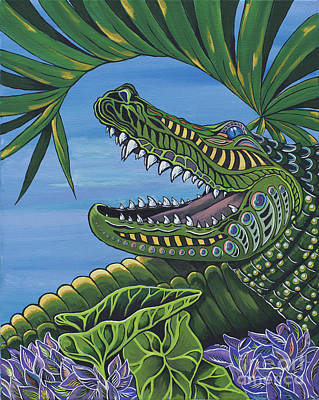 Florida Gators Painting - Chillin' by Barbara Miller