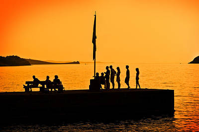 Photograph - Chilling At The Pier by Meirion Matthias