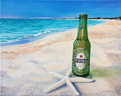 Painting - Chilling On The Beach by Liz Zahara