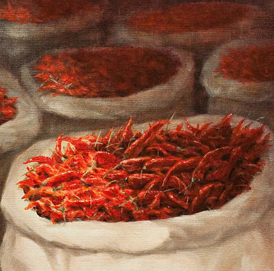 Pepper Painting - Chillis 2010 by Lincoln Seligman