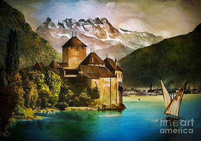 Chillon Castle  Art Print