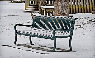 Photograph - Chilly Bench by Linda Brown