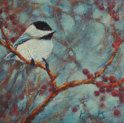Painting - Chilly Chickadee by Gina Grundemann