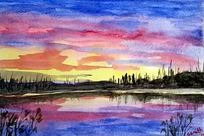Painting - Chilly Morning Sunrise by Gerry Smith
