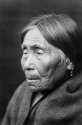 Gray Hair Photograph - Chimakum Indian Woman Circa 1913 by Aged Pixel