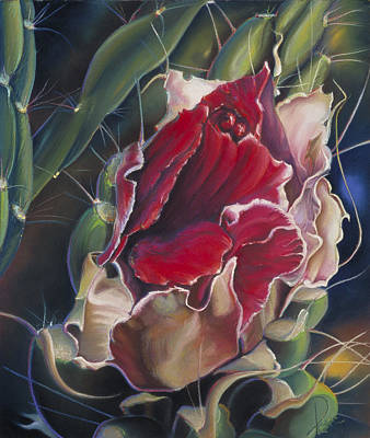 Painting - Chimayo Cactus by Donna Page