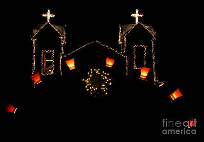 Bags With Candles Photograph - Chimayo Christmas by Roselynne Broussard