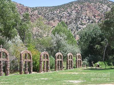 Art Print featuring the photograph Chimayo Sanctuary In New Mexico by Dora Sofia Caputo Photographic Art and Design