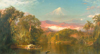 Mountain Painting - Chimborazo by Frederic Edwin Church