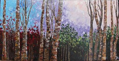 Woodscape Painting - Chimes by Shilpi Singh