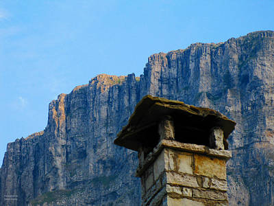 Photograph - Chimney And Mountain by Alexandros Daskalakis