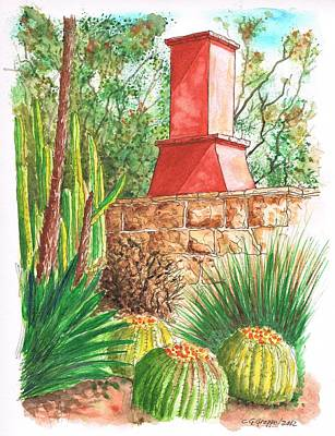 Flores Painting - Chimney At The Arboretum - Arcadia - California by Carlos G Groppa
