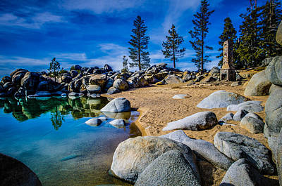 Chimney Beach Lake Tahoe Art Print