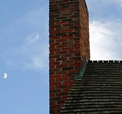Photograph - Chimney Moon by Cora Wandel