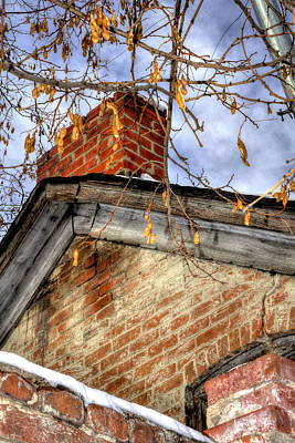 Jerry Sodorff Royalty-Free and Rights-Managed Images - Chimney Old House 13144 by Jerry Sodorff