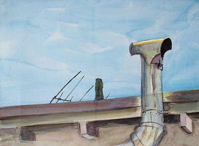 Painting - Chimney Pipe And Berkeley Sky by Asha Carolyn Young
