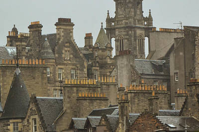 Photograph - Chimney Pots Of Edinburgh by Bill Mock