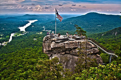 Art Print featuring the photograph Chimney Rock At Lake Lure by Alex Grichenko