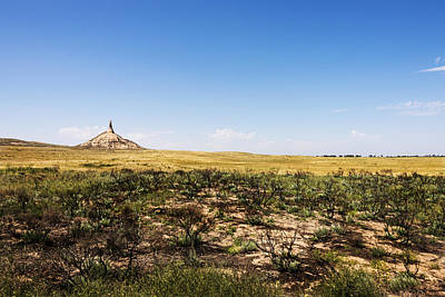 Photograph - Chimney Rock - Bayard Nebraska by Brian Harig
