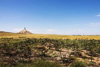 Prairie Landscape Photograph - Chimney Rock - Bayard Nebraska by Brian Harig