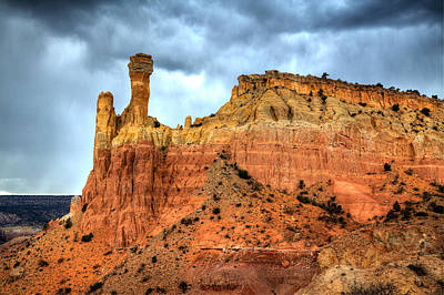 Photograph - Chimney Rock Before The Storm by Alan Vance Ley
