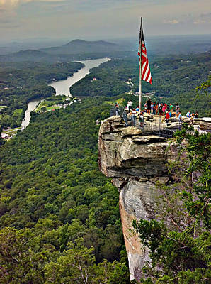 Art Print featuring the photograph Chimney Rock Overlook by Alex Grichenko