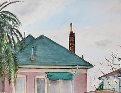 Painting - Chimney Serenade At Dusk In Berkeley by Asha Carolyn Young