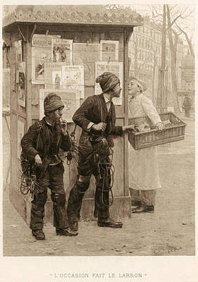 Thief Painting - Chimney-sweeps, 1896 by Granger