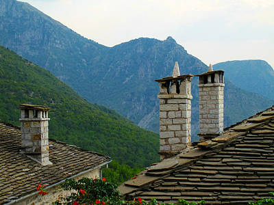 Photograph - Chimnies And Roofs by Alexandros Daskalakis